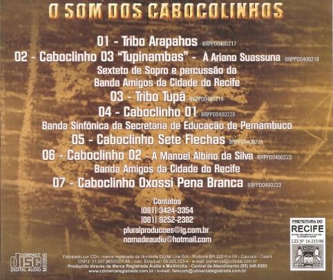 CD O Som do Caboclinhos - contracapa