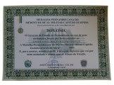 medalha Cap. Zuzinha -diploma